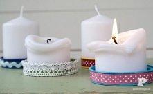 podstawki pod świece z ozdobionych zakrętek