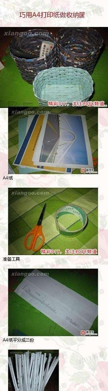 Koszyki plecione z papieru