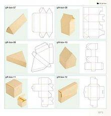 Wzory pudełek