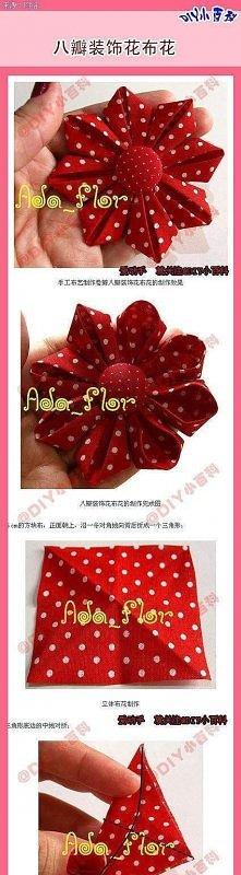 Kwiatki z tkaniny