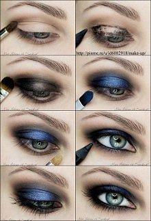 smokey eyes blue edition ^^