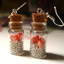 Butelkowe kolczyki! Zapraszam! :)