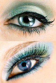 make up w stylu pawiego oka