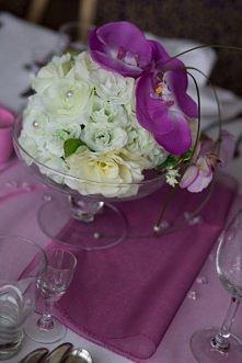 kula kwiatowa plus storczyki- była inspiracją do moich dekoracji...