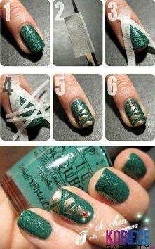 Świąteczne paznokcie ;p