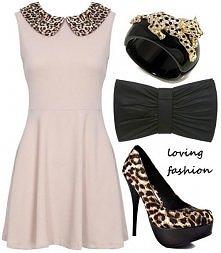 Elegancka sukienka z odrobiną drapieżności ;)