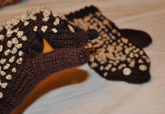 rękawiczki - jeżyki