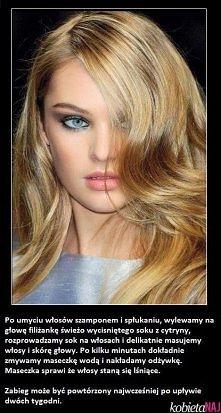 Maseczka na lśniące włosy ;D