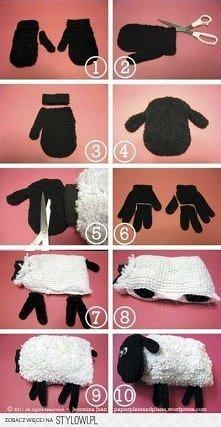owieczka  z rękawiczki