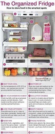 organizacja żywności w lodówce
