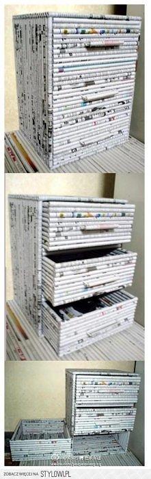 Pomysł na szafkę z papieru...