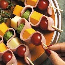 Ciekawe szaszłyki z serem i...