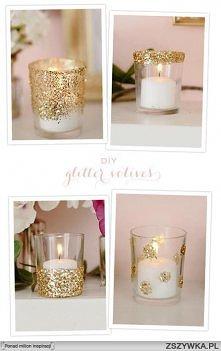 brokatowe świeczniki