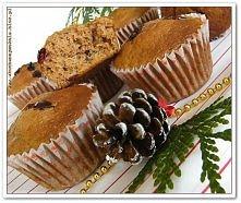 Muffinki z żurawinami dla Świętego Mikołaja.Przepis po kliknięciu w obrazek.