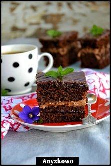 ciasto czekoladowo-czekoladowe
