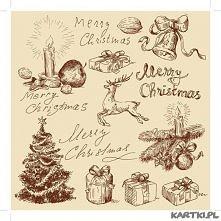 Retro świąteczna kartka
