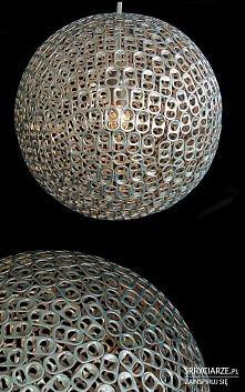 lampa z zawleczek od puszek
