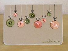 Kartka świąteczna z guzików