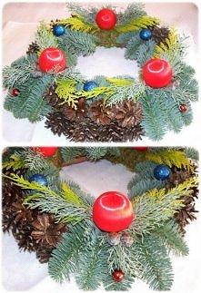 Wieniec bożonarodzeniowy własno  ręcznie wykonany