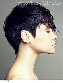 krótkie włosy z długą grzywką