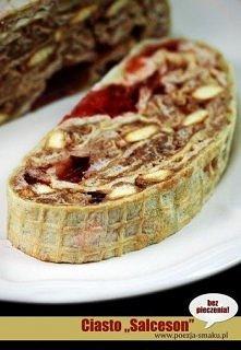 składniki: 4 duże wafle tortowe (kwadratowe lub prostokątne) 2 galaretki o do...