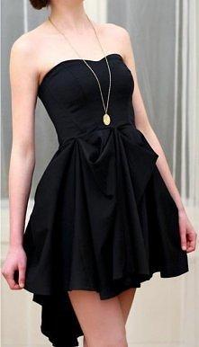czarna, delikatna sukienka