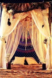 boho style,łóżko,łoże