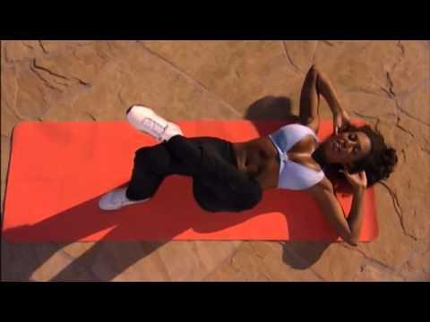 Mel B- trening abs (trening mięśni brzucha)