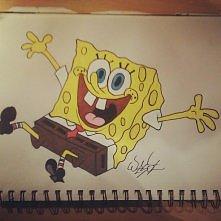 Spongebob w moim szkicowniku Zapraszam do śledzenia www instagram com/wesol_yo/