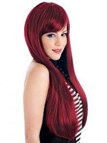 czerwone włosy, długie i pr...