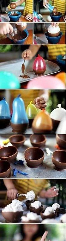 czekoladowe miseczki