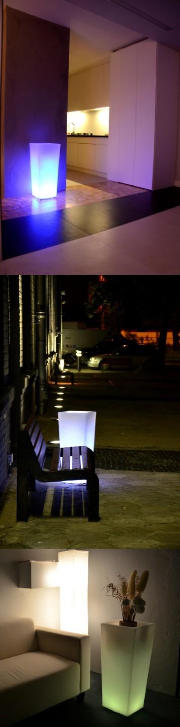 Doskonałe rozwiązanie do domu, ogrodu, biura, restauracji. Świecące donice nadają się do wystroju wnętrz jak i przestrzeni zewnętrznych, mogą służyć jako zwykłe doniczki lecz z dodatkową funkcją lampy rozświetlającej pomieszczenia czy przestrzeń ogrodu. Dodają otoczeniu stylu i charakteru.  ...więcej na LEDco.pl