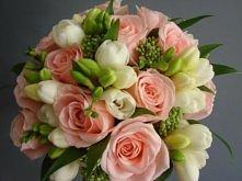 Bukiet z różą i frezją