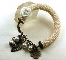 Romantyczna bransoletka koralikowy wąż toho charms