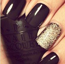 czarny + złoty :)