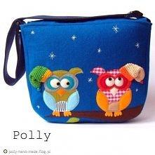 Filcowa torba z zimowymi sowami :) Zapraszam na blog :)