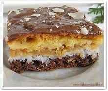 Ciasto jabłkowo-kokosowe z polewą chałwową (przepis po kliknięciu w zdjęcie).