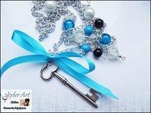 Wisior magiczny klucz- błękit  skyler-art.blogspot.com