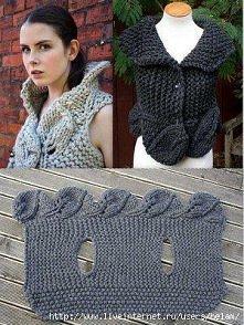 sweter z listkami