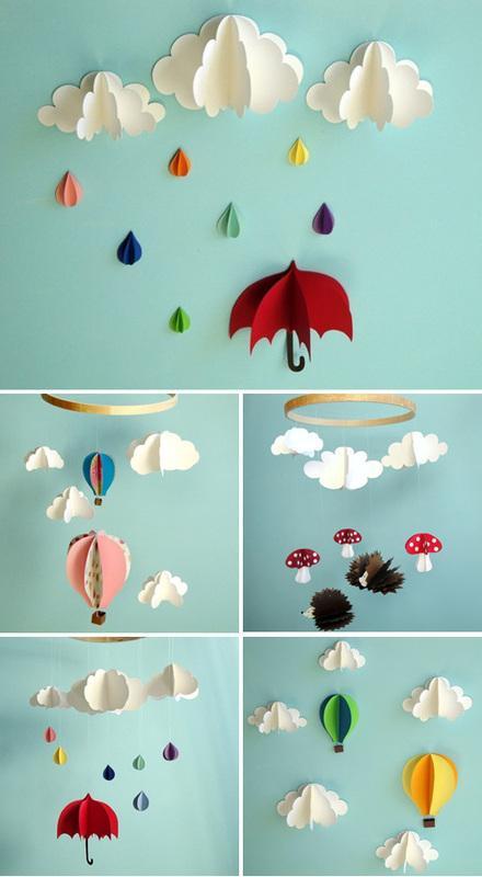Dekoracja z papieru 3D na ścianę do pokoju dziecka. wykonuję na zlecenie:)