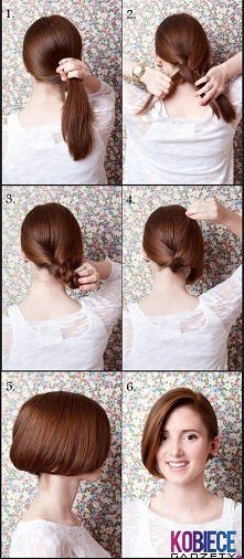 krótkie włosy bez obcinania :)