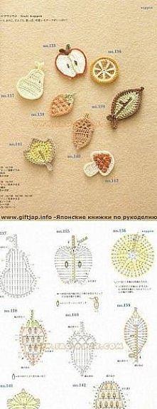 owocki na szydełku