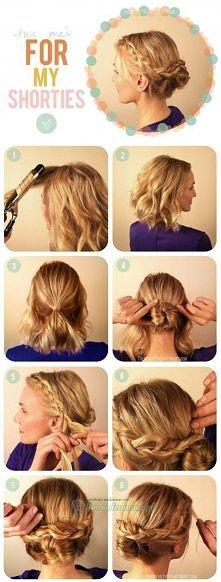 Pomysł ciekawego upięcia krótkich włosów