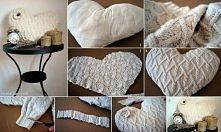 poduszka ze starego swetra