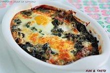 Szpinak i jajeczka, czyli zdrowe pożywne śniadanko na dobry początek dnia!