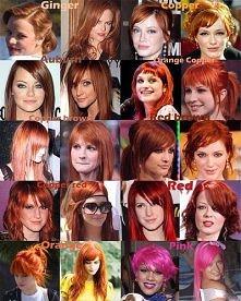 czerwone włosy gwiazd