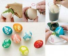 bardzo prosta i efektowna metoda farbowania jajek. wyglądają rewelacyjnie!