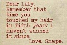 love, snape.