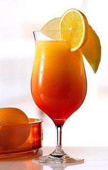 TEQUILA SUNRISE - DRINK    Składniki: * 40ml tequila * 80ml sok pomarańczowy ...