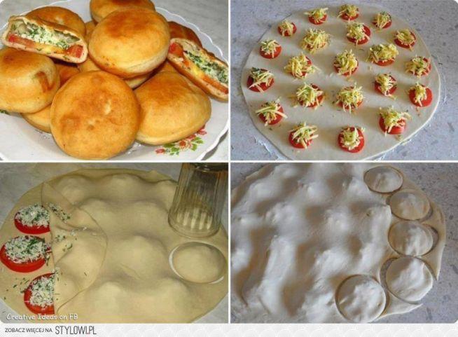 Bułeczki 2 szklanki mąki 1/2 łyżeczki soli 1 i 1/2 łyżki cukru